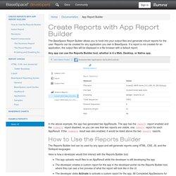 App Report Builder