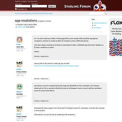 app resolutions « Starling Forum