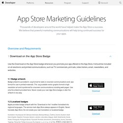 App Store Marketing Guidelines