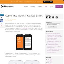App of the Week: Find. Eat. Drink.