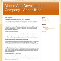 Mobile App Development Company - Appabilities: 5 Benefits of Gamification for Your Business
