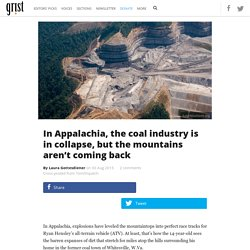 In Appalachia, the coal industry is in collapse, but the mountains aren't coming back