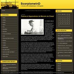 Poèmes et Apparadoxes de Malcolm de Chazal : ScorpionwinD