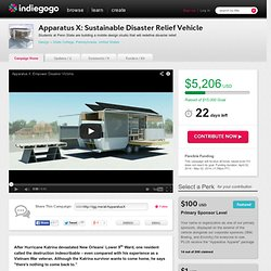 Apparatus X: Sustainable Disaster Relief Vehicle