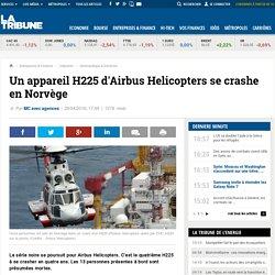 Un appareil H225 d'Airbus Helicopters se crashe en Norvège