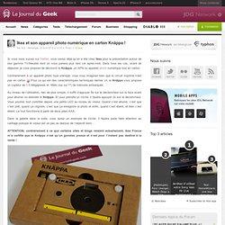 Ikea et son appareil photo numérique en carton Knäppa !