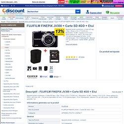 FUJIFILM FINEPIX JV300 + Carte SD 4GO + Etui - Achat / Vente COMPACT FUJI JV300 + Etui +Carte SD4GO