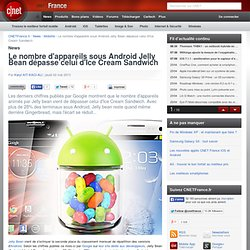 Le nombre d'appareils sous Android Jelly Bean dépasse celui d'Ice Cream Sandwich