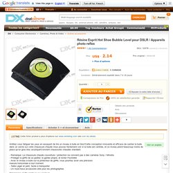 Resin Hot Shoe Bubble Spirit Level for DSLR/SLR Cameras
