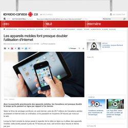 Les appareils mobiles font presque doubler l'utilisation d'Internet
