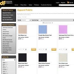 Apparel Fabric - Discount Fabrics