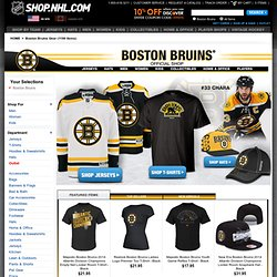 Boston Bruins Shop - Stanley Cup Champs Gear, Apparel, Merchandise from Shop.NHL.com