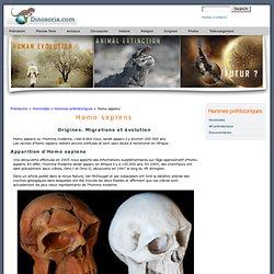 Homo sapiens. Apparition et Evolution