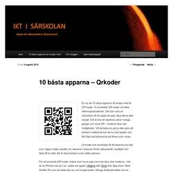10 bästa apparna – Qrkoder