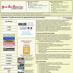 Guide des démarches - Logement : un guide pour louer un appartement sans discrimination