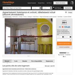 Appartement lumineux et coloré, idéalement situé (rénové récemment) - Région de Saint-Malo