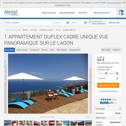 1 APPARTEMENT DUPLEX CADRE UNIQUE VUE PANORAMIQUE SUR LE LAGON - La Réunion