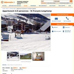 Appartement 4/6 personnes - St François Longchamp Locations & Gîtes Savoie