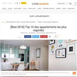Appartement déco : les plus belles réalisations sur Côté Maison en 2016 - 22/12/16