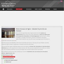 Devis en ligne pour travaux appartement ou maison - EGR Rénovations