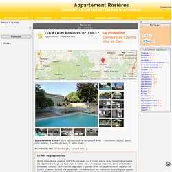 Appartement Rosières - location 18 personnes Piscine 3 chambres