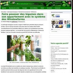 Faire pousser des légumes dans son appartement avec le système des Windowfarms » ecoloPop