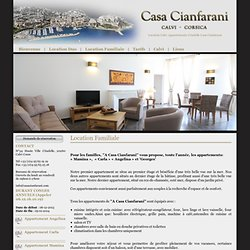 Location Calvi Locations Appartements Calvi Citadelle Casa Cianfarani