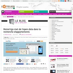 Home'n'go met de l'open data dans la recherche d'appartements