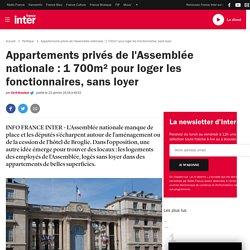 Appartements privés de l'Assemblée nationale: 1700m² pour loger les fonctionnaires, sans loyer