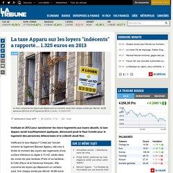 """La taxe Apparu sur les loyers """"indécents"""" a rapporté... 1.325 euros en 2013"""