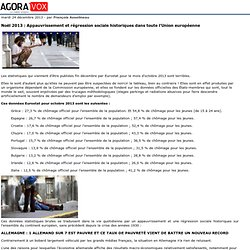 Noël 2013: Appauvrissement et régression sociale historiques dans toute l'Union européenne