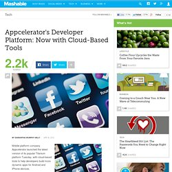Appcelerator's Developer Platform: Now with Cloud-Based Tools