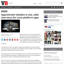 Appcelerator doubles in size, adds new execs for cross-platform apps