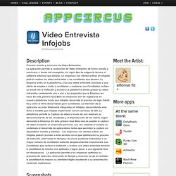 Video Entrevista Infojobs from vviddeo