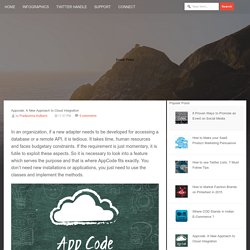 Appcode: A New Approach to Cloud Integration
