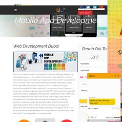 Mobile AppDevelopment Company, UAE