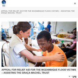 Appeal for Relief Aid for the Mozambique Flood Victims