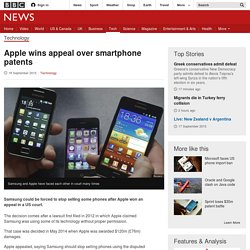 Apple wins appeal over smartphone patents - BBC News