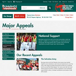 Major Appeals - with Bunnings