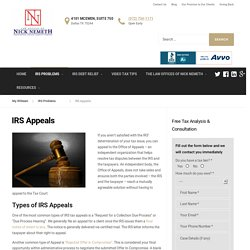 IRS Appeal Form, Process - MyIRSteam