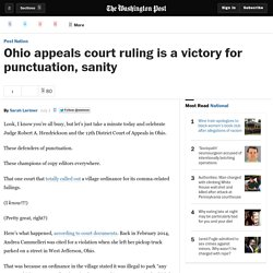 Ohio appeals court ruling is a victory for punctuation, sanity - The Washingt...