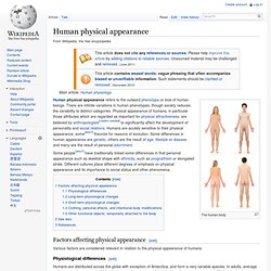 Human physical appearance