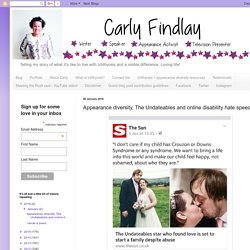 Tune into Radio Carly: Appearance diversity, The Undateables and online disability hate speech.