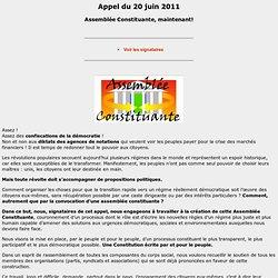 Petition assemblée consitutante Appel de juin 2011