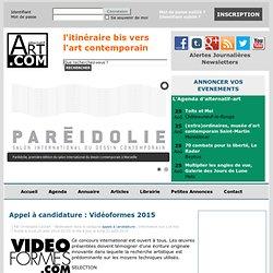 Appel à candidature : Vidéoformes 2015