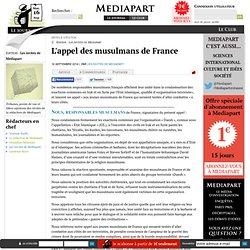 L'appel des musulmans de France