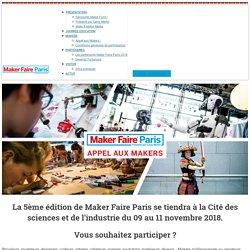Appel aux Makers, Maker Faire Paris 2018