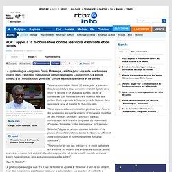 RDC: appel à la mobilisation contre les viols d'enfants et de bébés