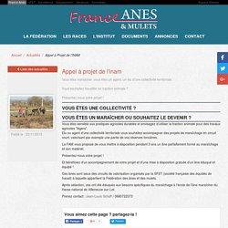Appel à Projet de l'INAM - France Anes