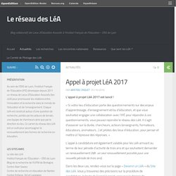 Appel à projet LéA 2017 – Le réseau des LéA
